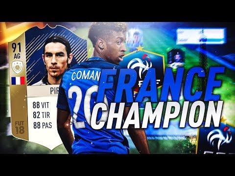 FIFA 18 - ON RÉCUPÈRE ROBERT PIRES ICONE 91 ! EN FUT CHAMPION AVEC UNE TEAM FRANCAISE !