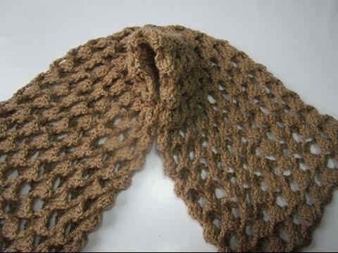 Howto Crochet Scarf Free Pattern diy ganchillo bufanda tutorial easy ...