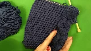 #knitting Шарф   капюшон косичками МК 1 /HUDED SCARF