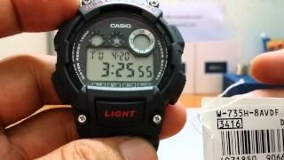 đồng hồ điện tử casio w 735h 1avdg 2avdf 8avdf