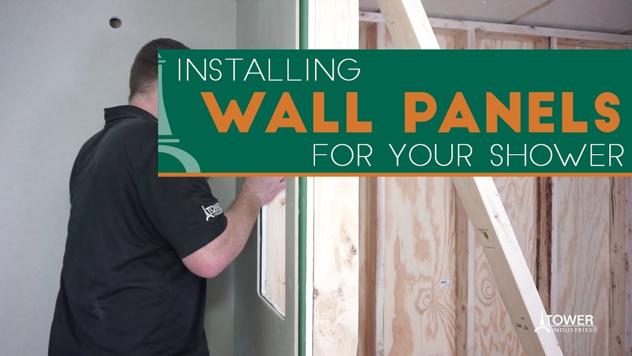 How To Install A Shower Wall Panel Meridian Solid Surface Youtube