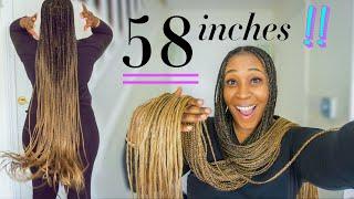 DIY OMBRE KNOTLESS BRAIDS: Knee Length, Blonde + Beginner Friendly!