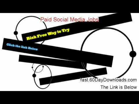 Paid Social Media Jobs Download PDF Free of Risk - watch this review