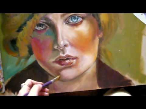 How to oil paint / Painting lesson youtube art painting artistmind sylvia lizarraga oil xx
