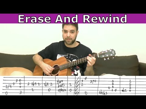 Fingerstyle Tutorial: Erase & Rewind - Guitar Lesson w/ TAB