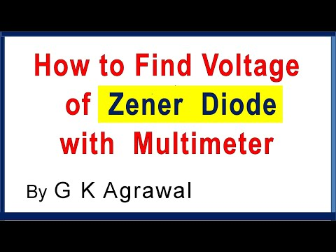 How To Test Voltage Of A Zener Diode - Experiment