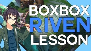 Extensive Riven Lesson by Boxbox (Combos, Animation Cancel and wallhops)