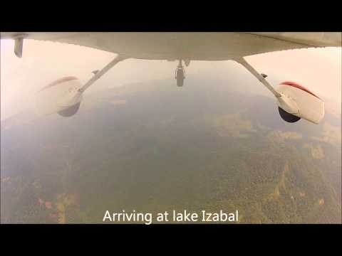 Flight from La Aurora to Rio Dulce Guatemala with Cessna 172