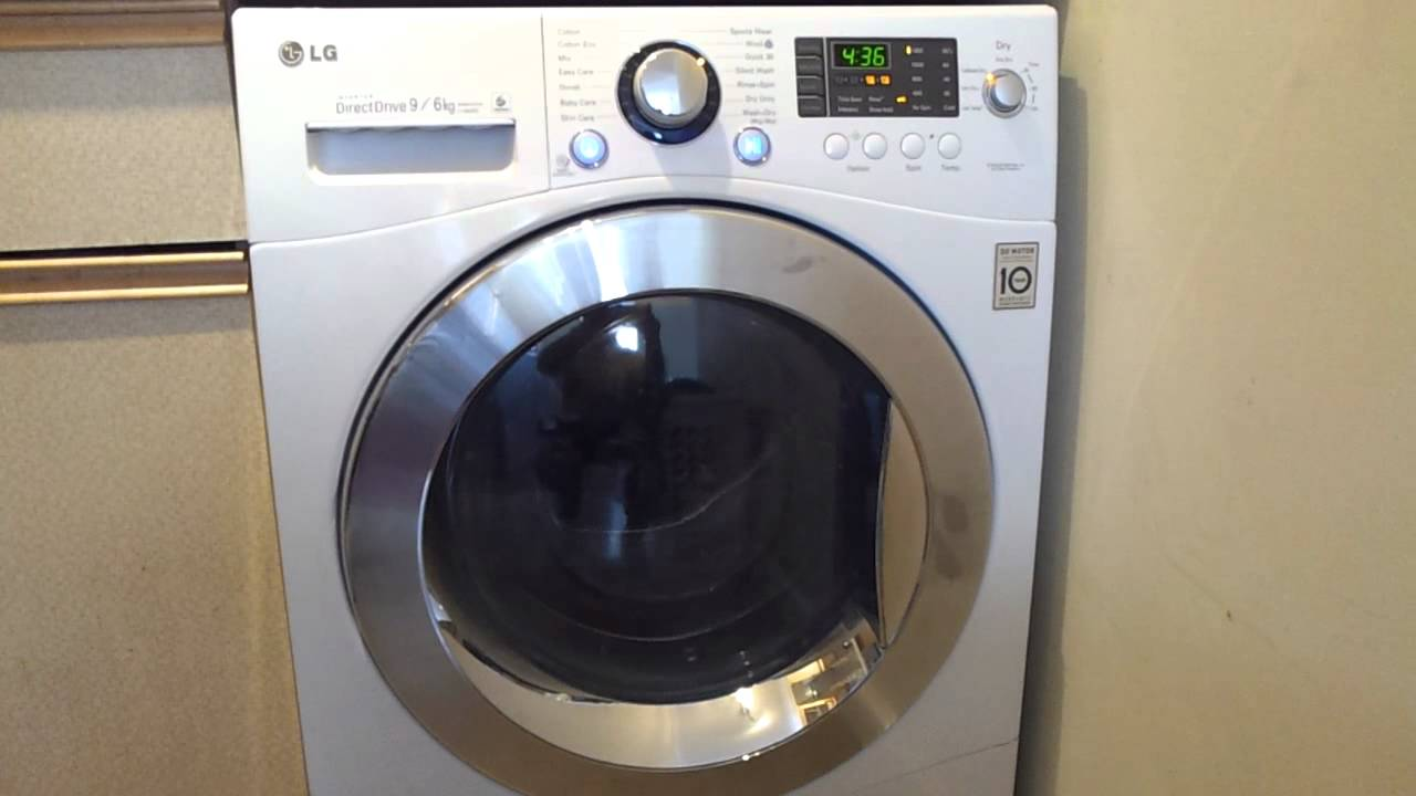Lg Dryer Repair >> Noisy LG 1480RD Washer Dryer - YouTube