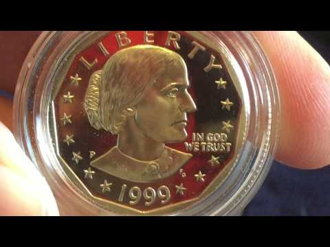 1999 Proof Susan B Anthony Dollar Coin