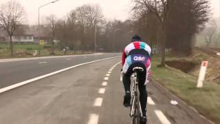 Philippe Gilbert in training for the Tour of Flanders