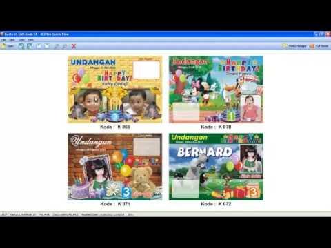 0813 2112 8490 Contoh Undangan Ulang Tahun Anak Kartu Undangan