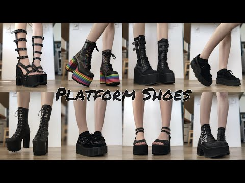 Try-On of All My Shoes | I Only Wear Platforms!