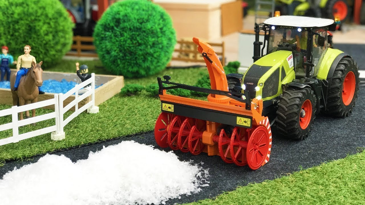 Best Of RC Bruder Toys Snowblower, Tractors, Plow Trucks Videos For Kids!