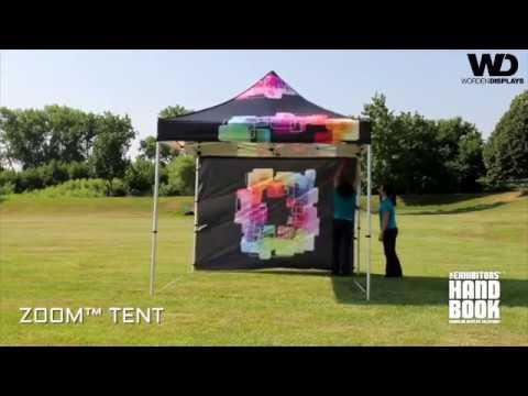 Outdoor Displays - Zoom™ PopUp Tent Set Up - Worden Displays  - Trade Show Displays
