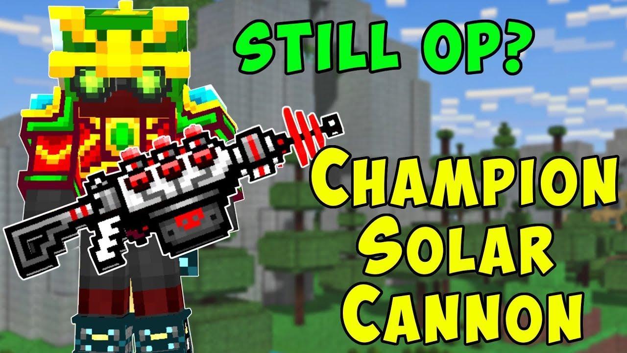 wyprzedaż resztek magazynowych świetne okazje 2017 Najlepiej Champion Solar Cannon? Also Overpowered? Pixel Gun 3D Gameplay PG3D
