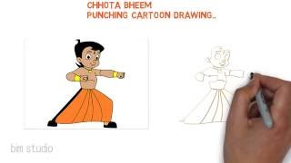 how to draw chota bheem cartoon