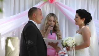 Песочная церемония для влюбленных Антона и Анны на выездной регестрации