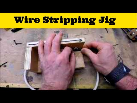 how to make a wire stripping jig