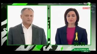 Dezbateri electorale la tv7 (07.11.16) Maia Sandu (PAS), Igor Dodon (PSRM)