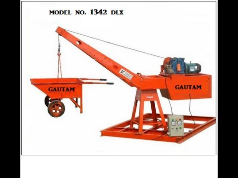 Mini Lift Material Hoist Youtube
