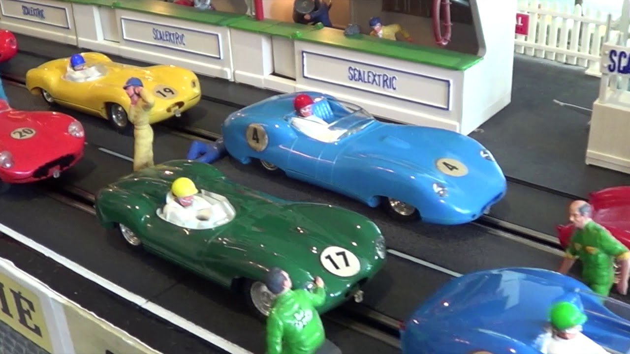 Scalextric slot cars of Yesteryear