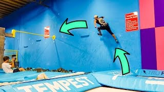 GIANT SUPER TRAMPOLINE GAP TO BAR!!!! (30 FEET)