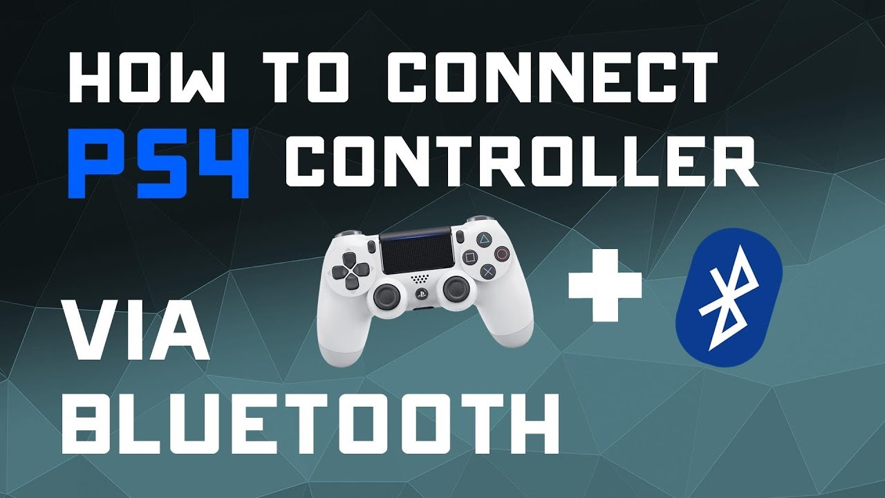 connect ps4 controller to pc bluetooth windows 7