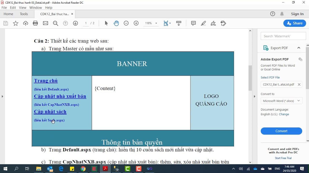 Thiết kế trang web bán sách online bằng ASP.NET