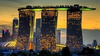 Singapore отель Marina Bay Sands - 1 часть(В отеле Marina Bay Sands примерно номер стоит 30.000 рублей/сутки, но мы попали в акцию и с самого сайта отеля произвел..., 2012-05-01T11:57:24.000Z)