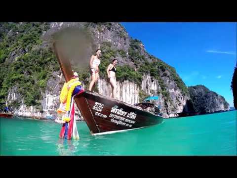 Phi phi island monkey beach go pro hero 4