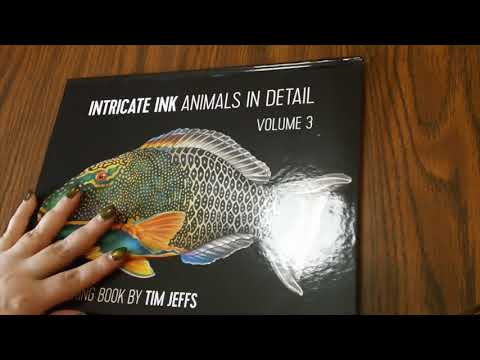 Intricate Ink Animals in Detail Vol  3, Flipthrough, Review, & Giveaway (Closed)