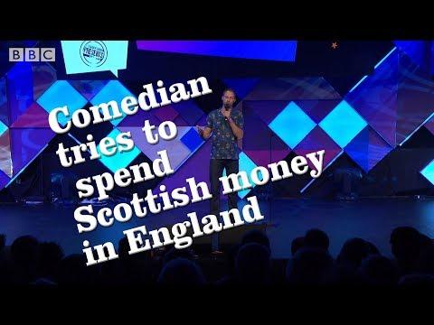Spending Scottish money in England
