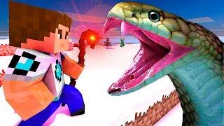 видео: Помощь Змею! Нападение змей на сородича! Лаки блоки майнкрафт, мультик