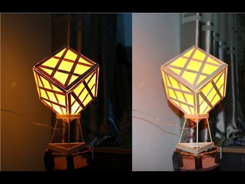 How To Make A Lamp Using Popsicle Sticks