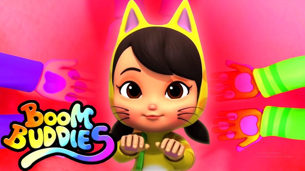 Üç Küçük Yavru Kedi   Çocuklar için eğitim   Animasyon   Boom Buddies Türkçe   Tekerlemeler