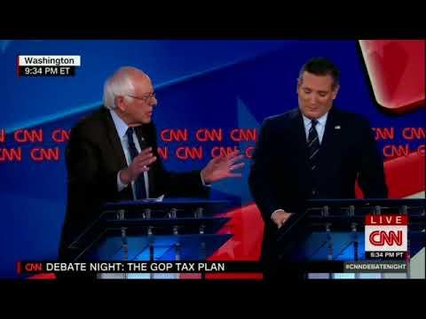 Bernie Sanders crushing Ted Cruz on tax debate