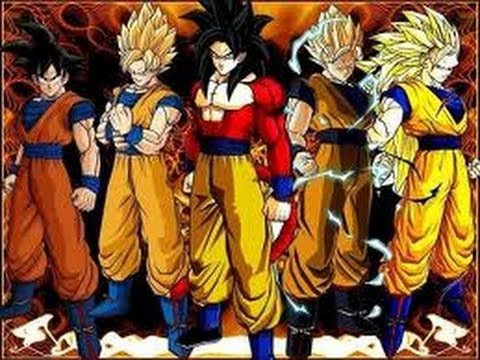 Dragon Ball Z Kai   Dublado Goku Transformando em  super Sayajins Travel Video