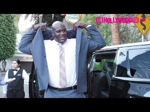 Shaquille O'Neal Arrives To James Corden's Carpool Karaoke Party At The Chateau Marmont 8.7.17