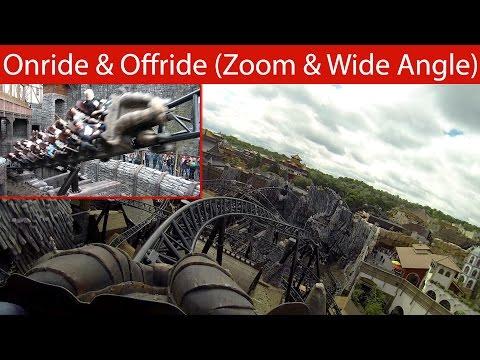 Phantasialand - Taron (Multi-Launch Coaster) - Onride & Offride 2016 [POV / Multi-Angle / 60 fps]