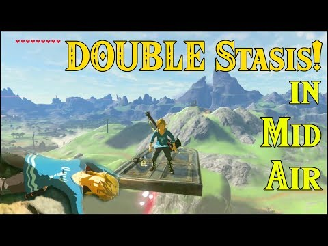 DOUBLE Stasis in Mid Air! Very Fun NEW GLITCH with CRINGE in Zelda Breath of the Wild