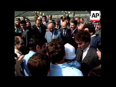 Reagan And Gorbachev Walk Around Red Square, Shultz And Shevardnadze Sign Treaty