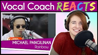 "Vocal Coach reacts to Michael Pangilinan performs ""Rainbow"" (South Border) LIVE on Wish 107.5 Bus"