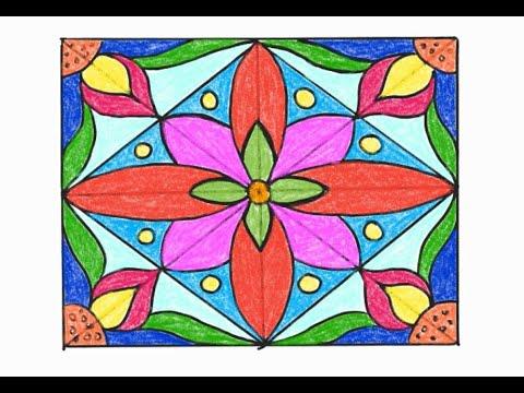 Dạy vẽ cho bé ( Trang trí hình chữ nhật – rectangular decoration)