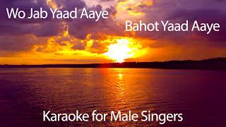 🎵 Wo Jab Yaad Aaye 🎵 Karaoke for Male Singers