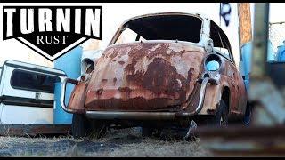 1959 BMW Isetta 600 JunkYard Find | A Turnin Rust Extra