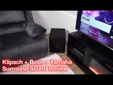 klipsch-subwoofer-+-bose-speakers-+-yamaha-receiver-expert-test-and-review