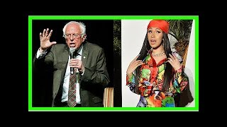 Bernie Sanders Encourages Cardi B's Diss At Trump & The Internet Wants Them To Run For Office