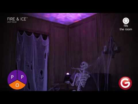 lightshow fire and ice light bulb orange youtube