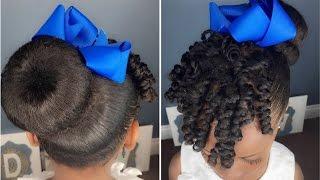 Sock Bun & Curls Tutorial   Kids Natural Hairstyle   IAMAWOG